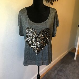 The Clas-sic Gray embellished knit top